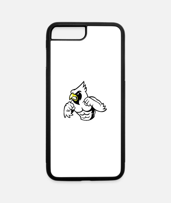 Eagle Head iPhone Cases - eagle fighter - iPhone 7 & 8 Plus Case white/black