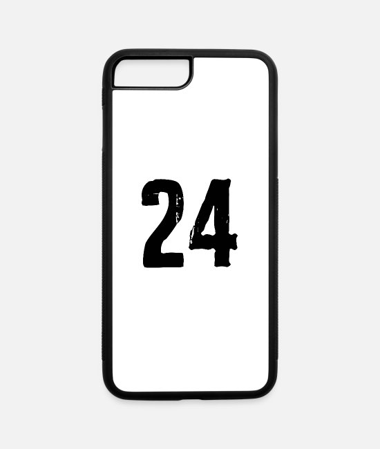 Numbers iPhone Cases - 24 number - iPhone 7 & 8 Plus Case white/black