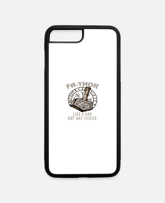 Viking iPhone Cases - Viking Fa Thor Fathers Day Tshirt - iPhone 7 & 8 Plus Case white/black