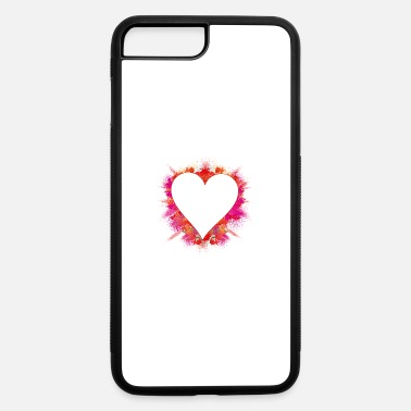 Explosion color intensive explosion - heart with red powder - iPhone 7 & 8 Plus Case