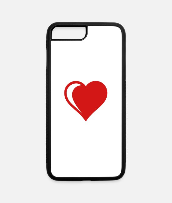 Heart iPhone Cases - heart² - iPhone 7 & 8 Plus Case white/black