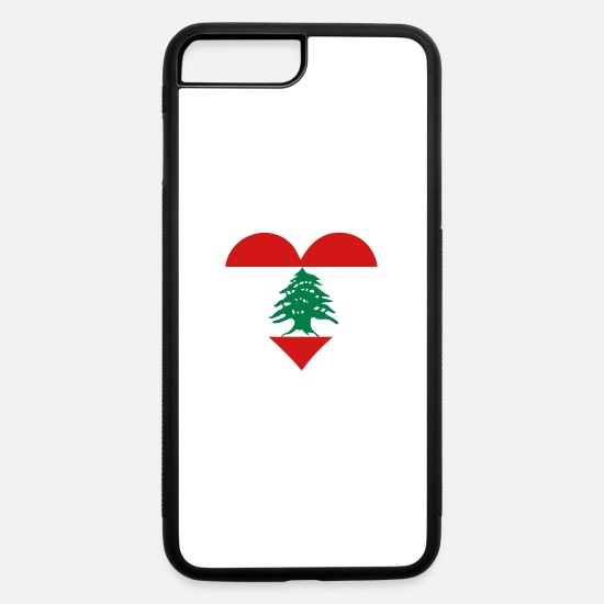 Mosque iPhone Cases - A Heart For Lebanon - iPhone 7 & 8 Plus Case white/black