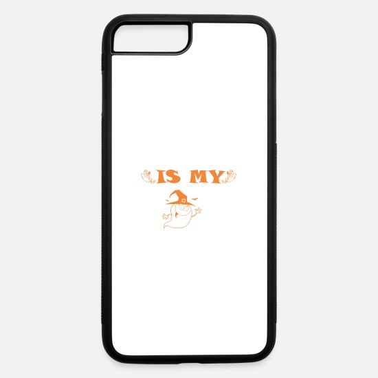 Boo iPhone Cases - Poppa Is My Boo Happy Halloween - iPhone 7 & 8 Plus Case white/black