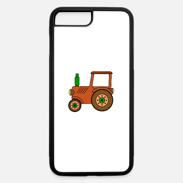 Toy brown toy tractor / toy tractor - iPhone 7 Plus/8 Plus Rubber Case