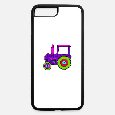 Toy toy tractor / toy tractor pink - iPhone 7 Plus/8 Plus Rubber Case
