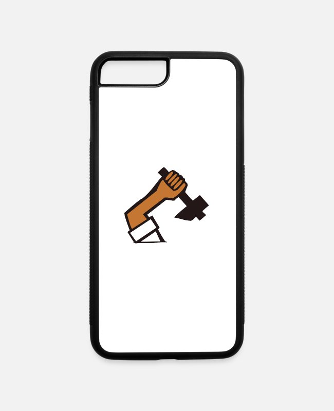 Industry iPhone Cases - hammer - iPhone 7 & 8 Plus Case white/black