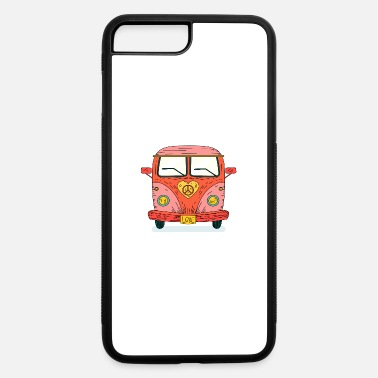 Movement Hippie 70s bus van love no war flower ower gift - iPhone 7 & 8 Plus Case