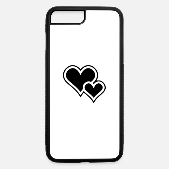 Heart iPhone Cases - heart - iPhone 7 & 8 Plus Case white/black