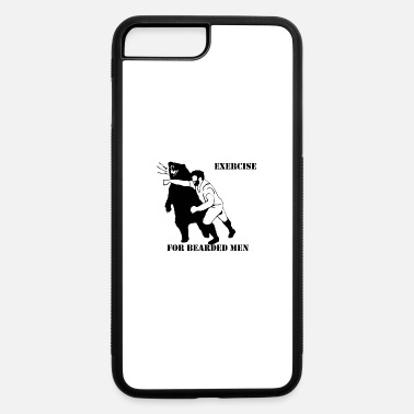 Exercise EXERCISE FOR BEARDED - iPhone 7 Plus/8 Plus Rubber Case