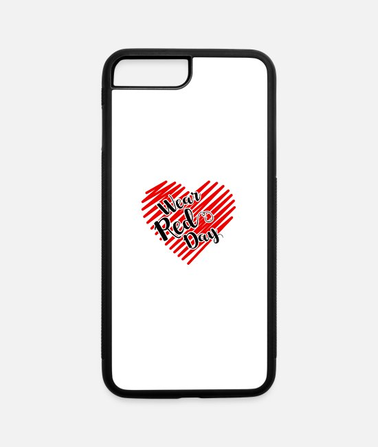 Red iPhone Cases - Wear Red Day - iPhone 7 & 8 Plus Case white/black
