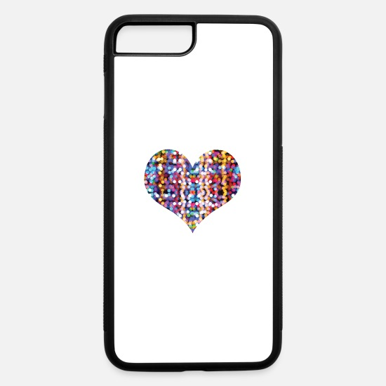 Love iPhone Cases - Heart - iPhone 7 & 8 Plus Case white/black