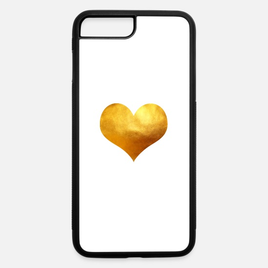 Love iPhone Cases - Golden Heart - iPhone 7 & 8 Plus Case white/black