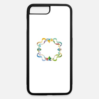 Element empty frame made of colorful shimmering ribbons - iPhone 7 & 8 Plus Case