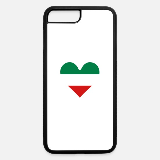 Italian iPhone Cases - Heart Italian Flag - iPhone 7 & 8 Plus Case white/black