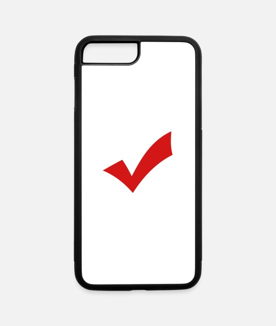Give iPhone Cases - Check Mark - iPhone 7 & 8 Plus Case white/black