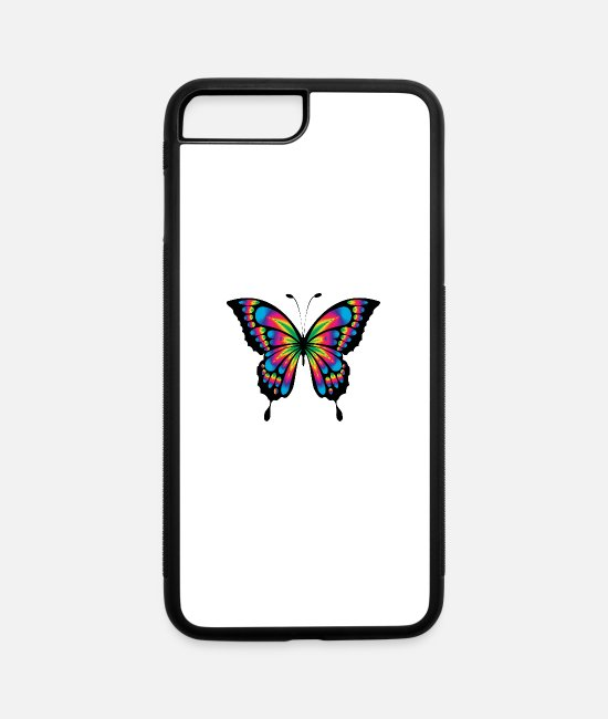 Art iPhone Cases - Butterfly colored - iPhone 7 & 8 Plus Case white/black