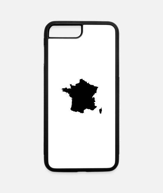 Geography iPhone Cases - France map - iPhone 7 & 8 Plus Case white/black