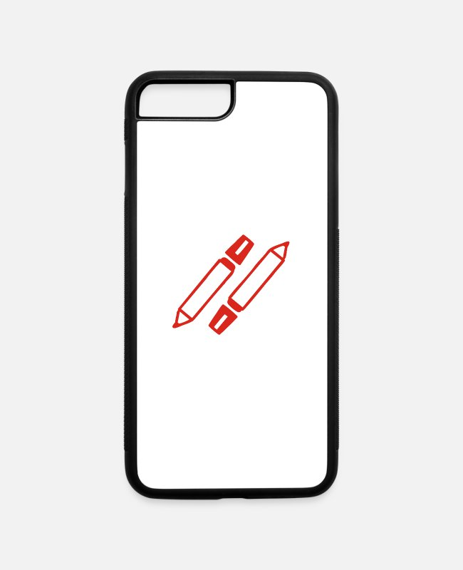 Penalty Kick iPhone Cases - pen writer - iPhone 7 & 8 Plus Case white/black