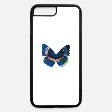 Oil Paint Butterfly Silhouette Oil Painting - iPhone 7 & 8 Plus Case