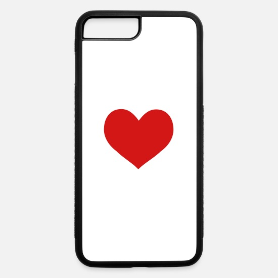 Love iPhone Cases - red heart - iPhone 7 & 8 Plus Case white/black