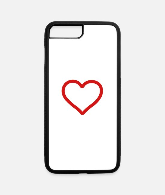Valentine's Day iPhone Cases - heart - iPhone 7 & 8 Plus Case white/black