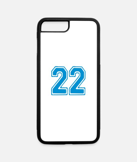 22 iPhone Cases - ۞»♥Cool Best Number Twenty-two 22-Vector Design♥«۞ - iPhone 7 & 8 Plus Case white/black