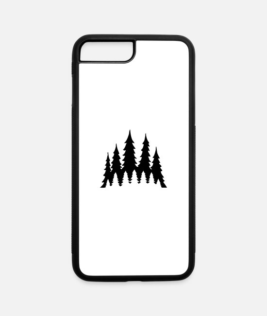 Tent iPhone Cases - Forest - iPhone 7 & 8 Plus Case white/black