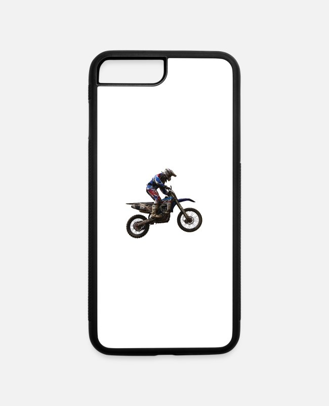 Motorcycle iPhone Cases - enduro - iPhone 7 & 8 Plus Case white/black