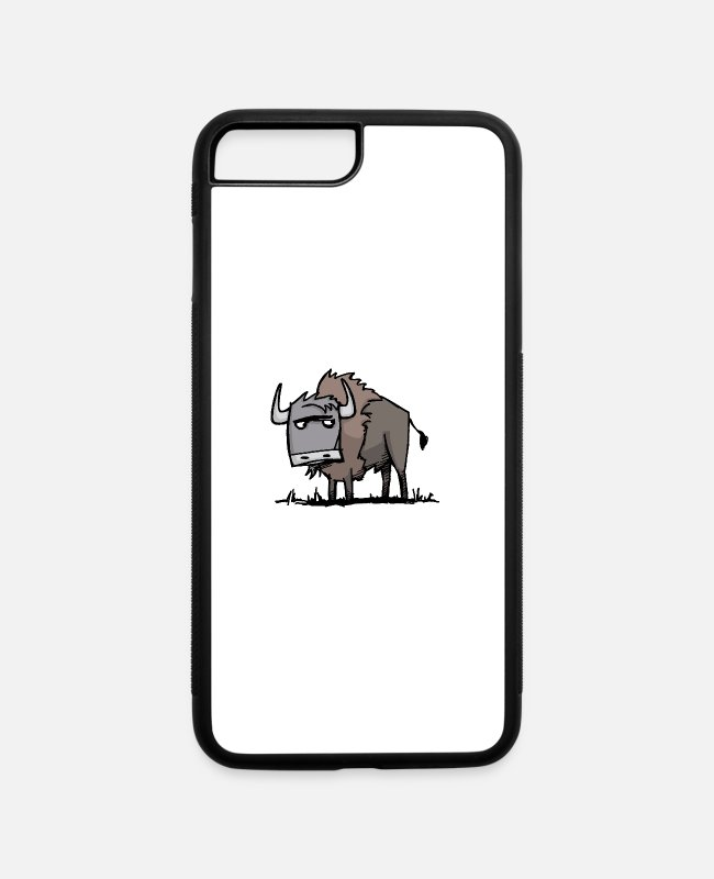 Yellowstone National Park iPhone Cases - American Bison - iPhone 7 & 8 Plus Case white/black