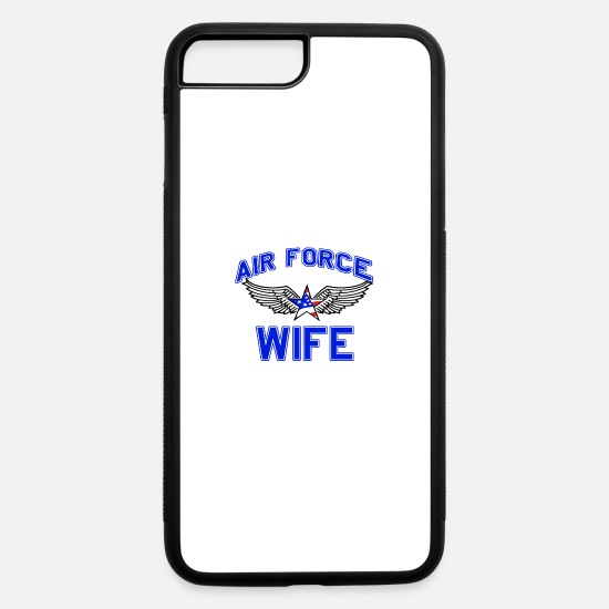 Wife iPhone Cases - Air force wife design - iPhone 7 & 8 Plus Case white/black