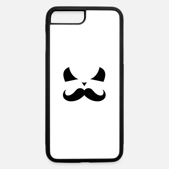 Bad iPhone Cases - bad face with moustache - iPhone 7 & 8 Plus Case white/black