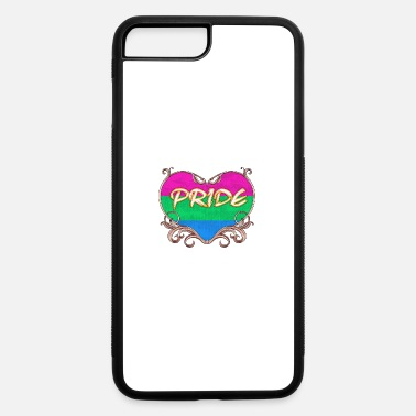 Proud gay pride heart of polysexual gay t shirt gay t sh - iPhone 7 & 8 Plus Case