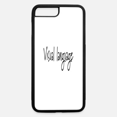 Language visual language - iPhone 7 Plus/8 Plus Rubber Case