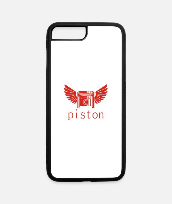 Matador iPhone Cases - winged piston - iPhone 7 & 8 Plus Case white/black