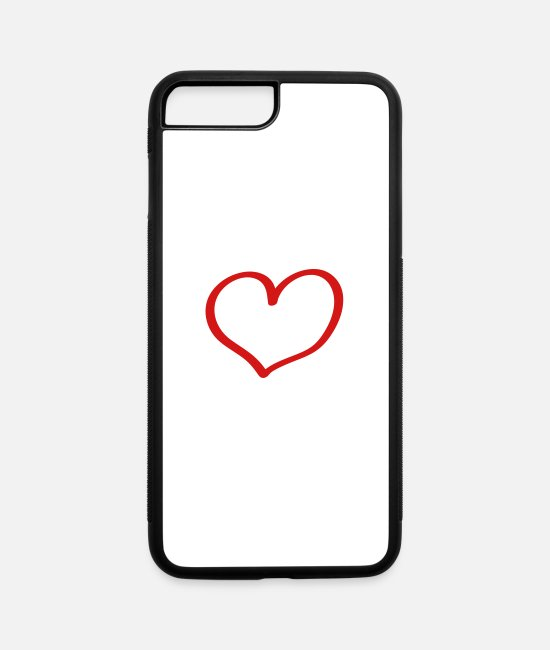 Amor iPhone Cases - heart - iPhone 7 & 8 Plus Case white/black