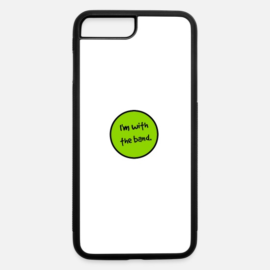 Electric Guitar iPhone Cases - I'm With the Band. - iPhone 7 & 8 Plus Case white/black