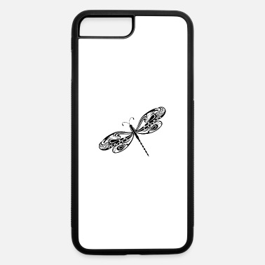 Shape dragonfly insect wildlife vector tatoo image - iPhone 7 & 8 Plus Case