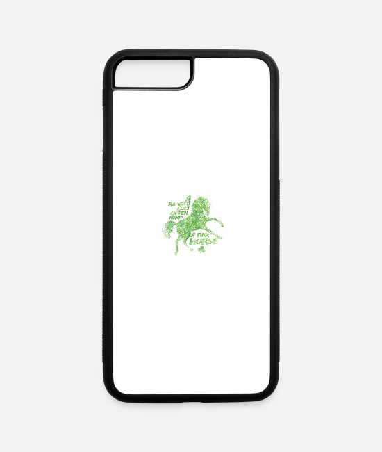 St Patricks Day iPhone Cases - Ragged Foal. Fine Horse - iPhone 7 & 8 Plus Case white/black