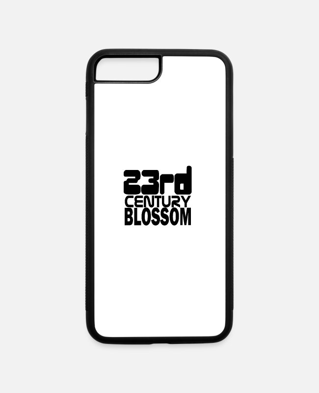 Black Metal iPhone Cases - 23rd century blossom latest age black - iPhone 7 & 8 Plus Case white/black