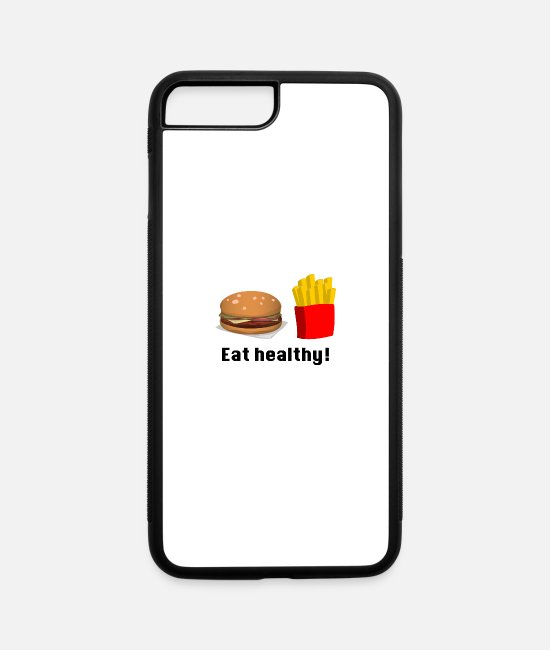 Food Chain iPhone Cases - healthy food - iPhone 7 & 8 Plus Case white/black