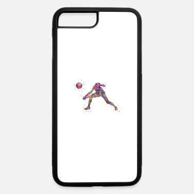 Girls Volleyball Volleyball girl, watercolor volleyball girl - iPhone 7 & 8 Plus Case