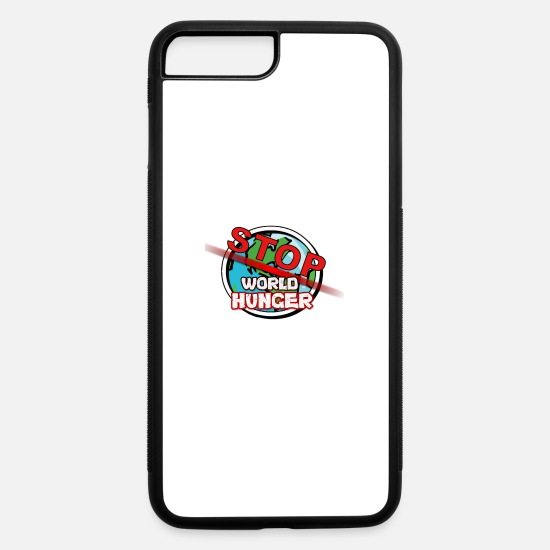 Stop iPhone Cases - Stop World Hunger Logo by: Jar - iPhone 7 & 8 Plus Case white/black