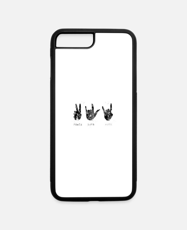 Rock iPhone Cases - Hand bons - iPhone 7 & 8 Plus Case white/black