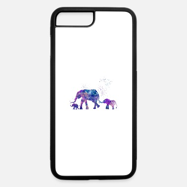 Two Mom and Two Baby Elephants - iPhone 7 & 8 Plus Case