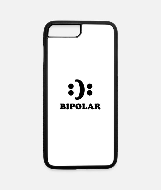 Bipolar Humor iPhone Cases - Bipolar - iPhone 7 & 8 Plus Case white/black