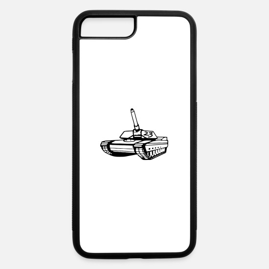 Techno iPhone Cases - tekno_tank_23 - iPhone 7 & 8 Plus Case white/black