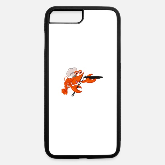 Shrimp iPhone Cases - Shrimp cook seafood plankton wildlife lobster cool - iPhone 7 & 8 Plus Case white/black