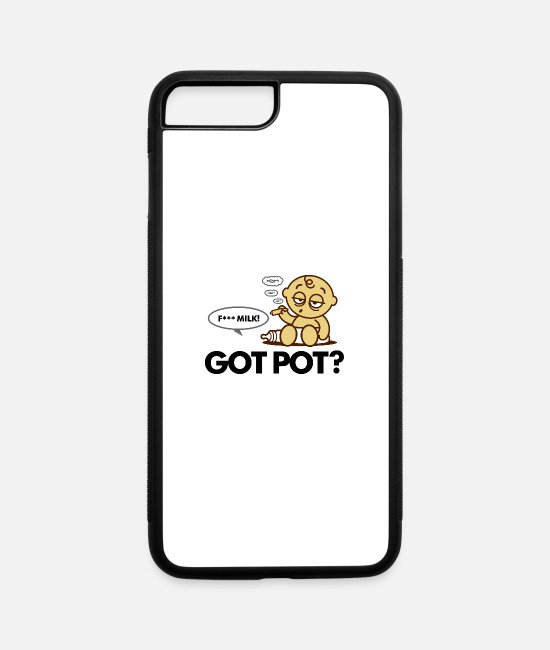 Cigarette iPhone Cases - Got Tired Of Milk. Let's Smoke Pot! - iPhone 7 & 8 Plus Case white/black
