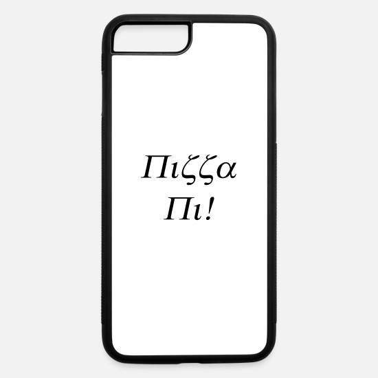Pi Day iPhone Cases - Pizza Pi - iPhone 7 & 8 Plus Case white/black