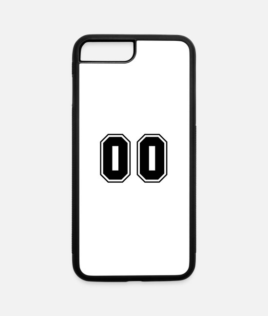 00 iPhone Cases - College jersey letter 00 - iPhone 7 & 8 Plus Case white/black